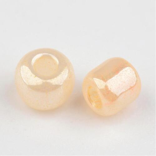 50g Round Glass 8//0 Ceylon Loose Beads about 1101pcs//50g 3mm Beading Crafts Diy