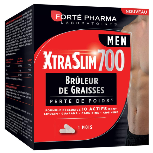 Forté Pharma XtraSlim 700 Men 120 Gélules   Brûleur de Graisses Hommes   Program