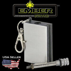Fire starter Ember Stryke Perma-match, Flint lighter, survival gear, campingx2