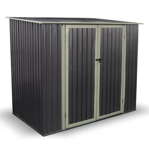 Combo Metal Garden Shed Pent Roof Outdoor Storage Shed