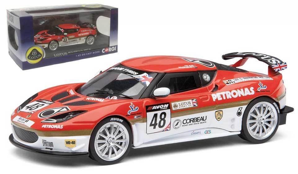 Corgi CC56601 Lotus Evora GT4 British GT 2012 - Glew Bolisetti 1 43 Scale