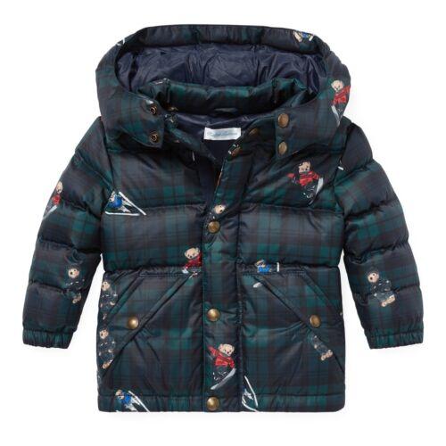 Ralph Lauren Polo Baby Boy Oso cuadros abajo chaqueta abrigo talla 12 meses