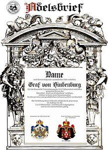 Adelstitel-GRAF-GRAFIN-von-HINDENBURG