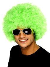 Adulti unisex Neon Verde Riccia Afro Capelli Parrucca Clown Circo Costume Accessorio