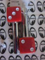 Rat Rod Hot Rod Red Dice Door Lock Knobs