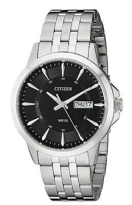 New Citizen Quartz Stainless Steel Bracelet Day & Date Men's Watch BF2011-51E