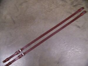 LEATHER LUGGAGE STRAPS for LUGGAGE RACK/CARRIER~~2 STRAP SET~DARK RED~SS BUCKLE