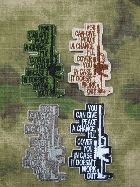Sniper YOU CAN GIVE PEACE A CHANCE Tactical military Embroidery  Patch