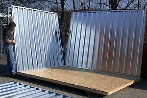 Container-Lagerhalle-Bauwagen-Halle-Gartenhaus-Kleinlagerhalle-Baubude-Bau-Lager