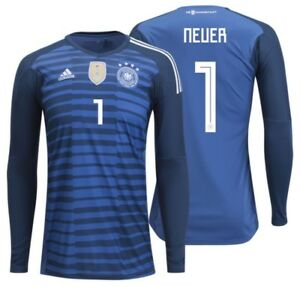 d45bc7e44 Image is loading ADIDAS-MANUEL-NEUER-GERMANY-HOME-GOALKEEPER-JERSEY-WORLD-