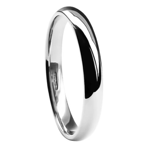 9ct White Gold Wedding Rings Blended Court Comfort UK H Marked 2 3 4 5 6mm Bands