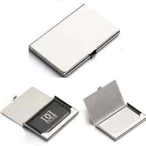 Business name credit id card holder box metal stainless steel pocket image is loading business name credit id card holder box metal reheart Images