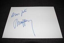 PETER MAFFAY signed Autogramm + SPRUCH auf 20x30 cm Karteikarte InPerson LOOK
