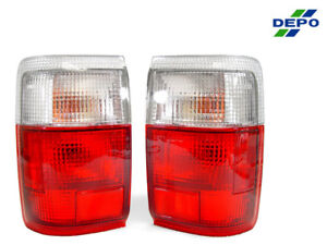 DEPO JDM Euro Red / Clear Rear Tail Lights For 1990-1995 Toyota 4Runner SR5
