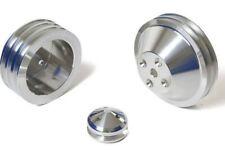 Chevy Small Block Pulley Kit 3v Long Water Pump Sbc 283 327 350 400 Lwp V Belt