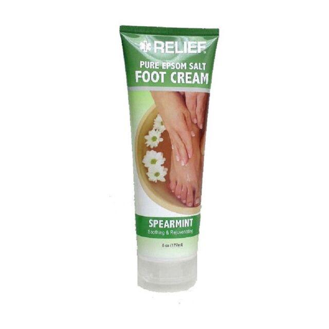 2x Blue Cross Relief Pure Epsom Salt Spearmint Foot Cream 6 Oz Each Lotion
