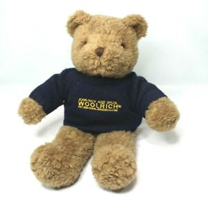 Collectible-Advertising-Sweater-Teddy-Bear-JOHN-RICH-and-BROS-WOOLRICH