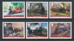 Ile-de-Man-2004-Premier-Vapeur-Railway-Locomotives-Ensemble-MNH-Sg-1125-30