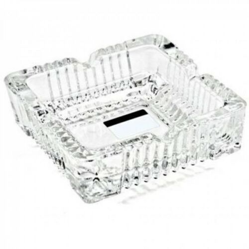 5x Glas Aschenbecher Aschen-Becher Ascher im Kristall Design massive Ausführung