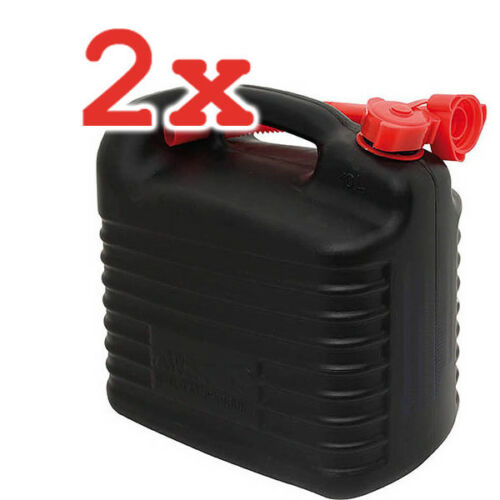2x KRAFTSTOFF BENZIN-KANISTER PREMIUM 10L JERRY CAN PLASTIC
