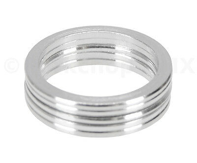 """Bicycle MINI BMX ROAD MTB headset spacers 1/"""" threadless SET of 5 5mm SILVER"""