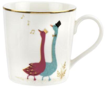 Portmeirion Sara Miller Piccadilly Set parrot mug Posing Parrots coffee//tea cup