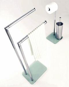 Piantana piantane bagno porta asciugamani rotolo scopino salviette accessori ebay - Piantana bagno porta asciugamani ...