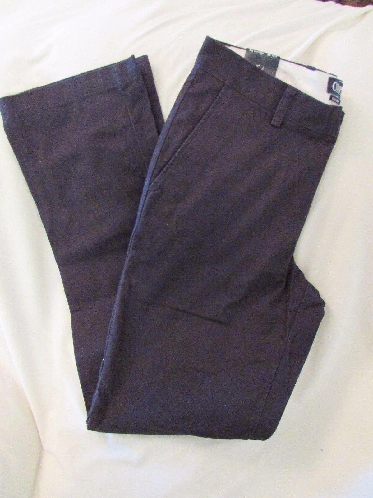 Men's  Chaps  Size 38x30, Navy, Classic, Straight, Flat Front, Pants