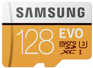 Samsung EVO 128GB 100MB/s microSDXC Card With SD Adapter ( MB-MP128G )
