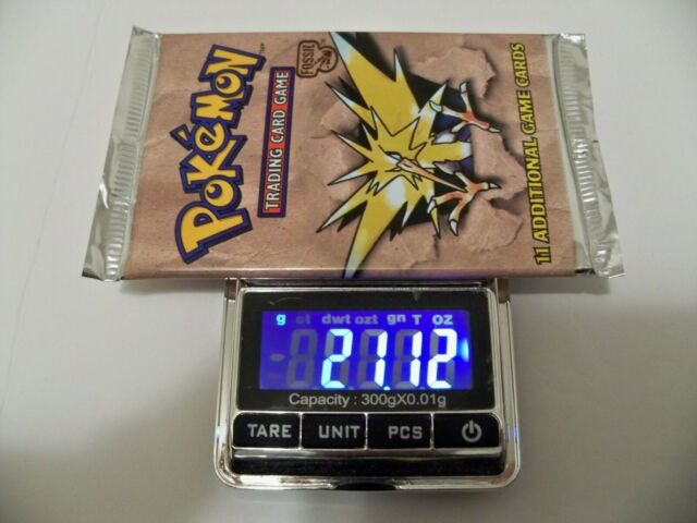 Pokemon Fossil Booster Pack Weighed Heavy 21.12 Grams (Zapdos)