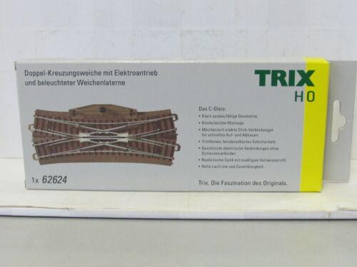 TRIX 1x 62624 Doppel-Kreuzungsweiche mit Elektroantrieb C-Gleis OVP H0 WJ8089
