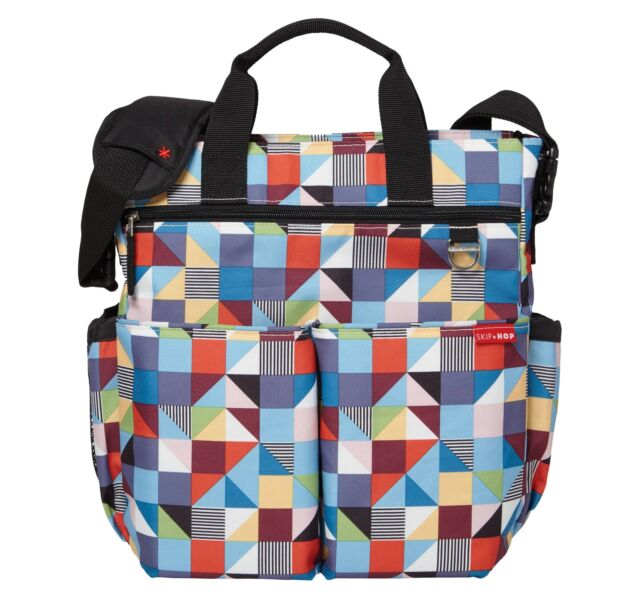 e9d69e2e8c8a8 Skip Hop Duo Signature Diaper Bag in Prism Print Multi RARE for sale ...
