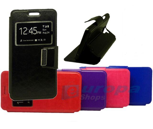 Funda Libro Flip silicona ventana Nokia 3 + Protector Pantalla templado