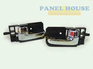 Door-Handles-PAIR-Inner-Chrome-Fits-Toyota-Hilux-05-11