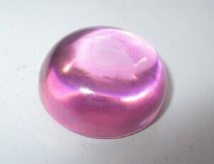1 Cz Cabochon Pink 10,0 Mm, Boden Flach, Synthetischer Edelstein, Cubic Zirkonia