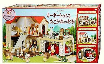 Ambizioso Sylvanian Families Ha-46 Casa Grande Con Carport Recinto Epoch Japan Nuovo