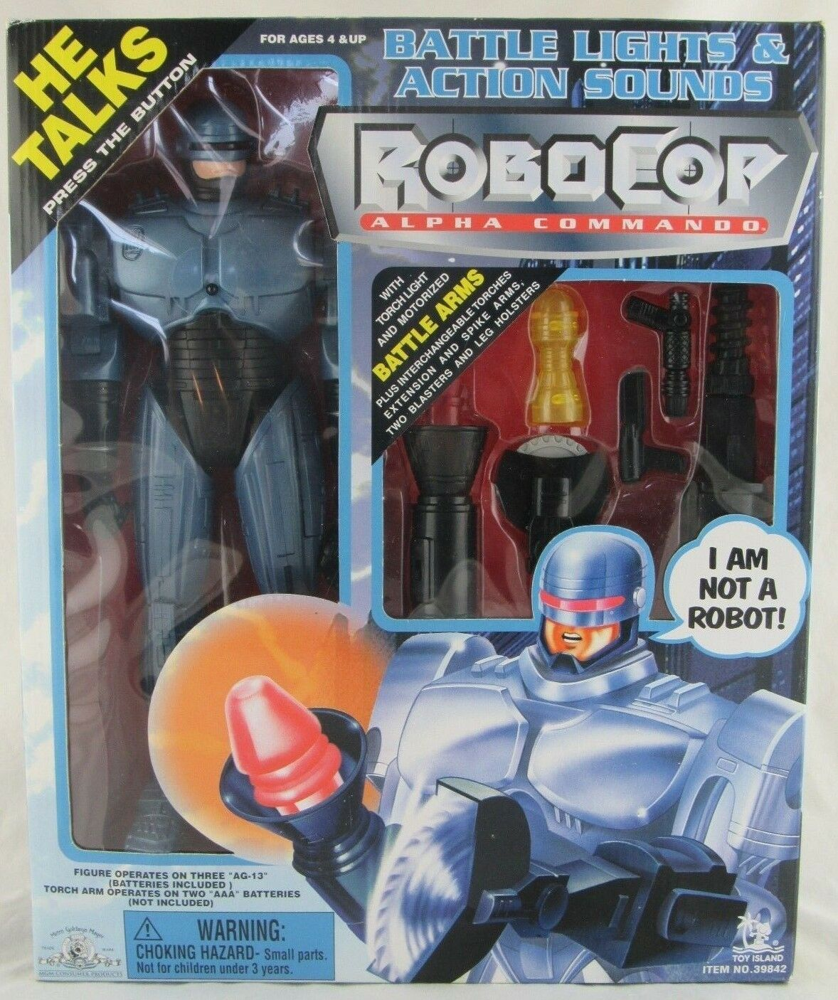 Robocop Alpha Command, Toy Island 1998, Sealed In Box