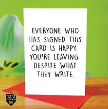 leaving job retirement greeting card rude funny offensive cheeky
