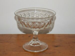 EAPG-Early-1900-039-s-US-Glass-Concave-Almond-Pattern-Jelly-Compote