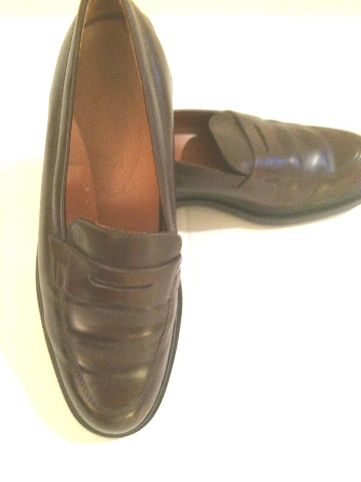 Tod's donna Dimensione 36 Wine Burgundy Penny Driving Loafers Rubber Made In