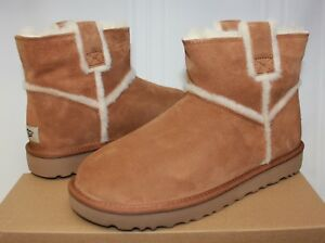 85bcdcfa040 Details about UGG Women's Classic Mini Spill Seam Chestnut Suede boots New  With Box!