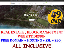 Real Estate Block Management Web Site Design Pages Free Domain Hosting Seo Ssl
