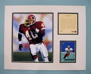 Washington Redskins REGGIE BROOKS 1994 Football 11x14 Matted Kelly Russell Print