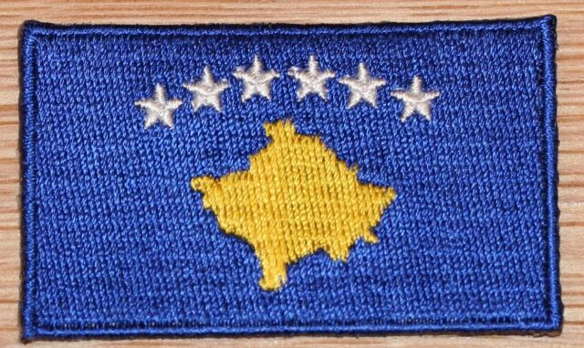 KOSOVO Country Flag Embroidered PATCH Badge