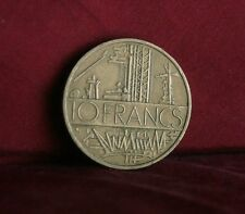 1977 France 10 Francs World Coin KM940 Electric Plant wires towers French