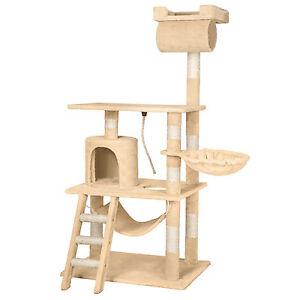 arbre chat griffoir grattoir geant sisal avec hamac lit. Black Bedroom Furniture Sets. Home Design Ideas
