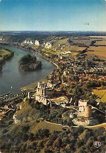 BR51720 Les andelys vue generale le chateau gaillard et la seine ...