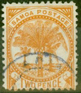 Samoa-1886-2d-Dull-Orange-SG23-Tres-Bien-Utilise-2