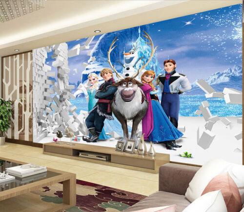 Frozen Disney Elsa Anna 3D Full Wall Mural Photo Wallpaper Print Paper Home Deco