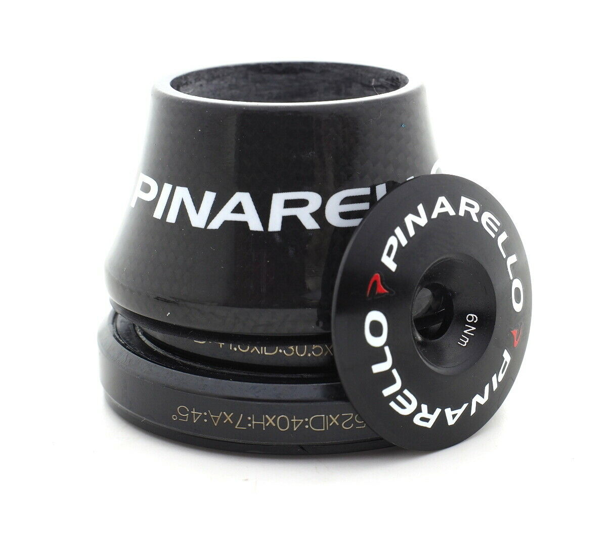 Pinarello Most Round HEADSET FULL CARBON 1K Weave 25mm Top  Cap  classic fashion